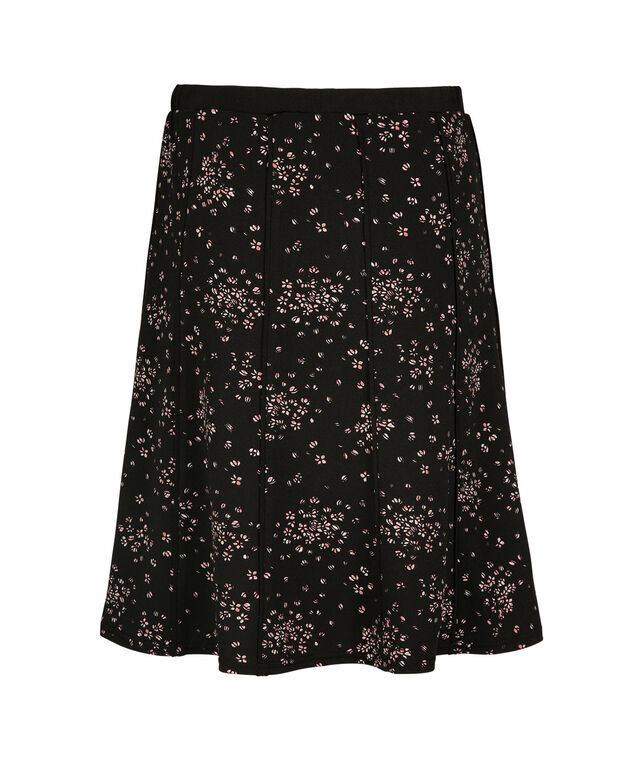 Floral Flippy Skirt, Black Print, hi-res