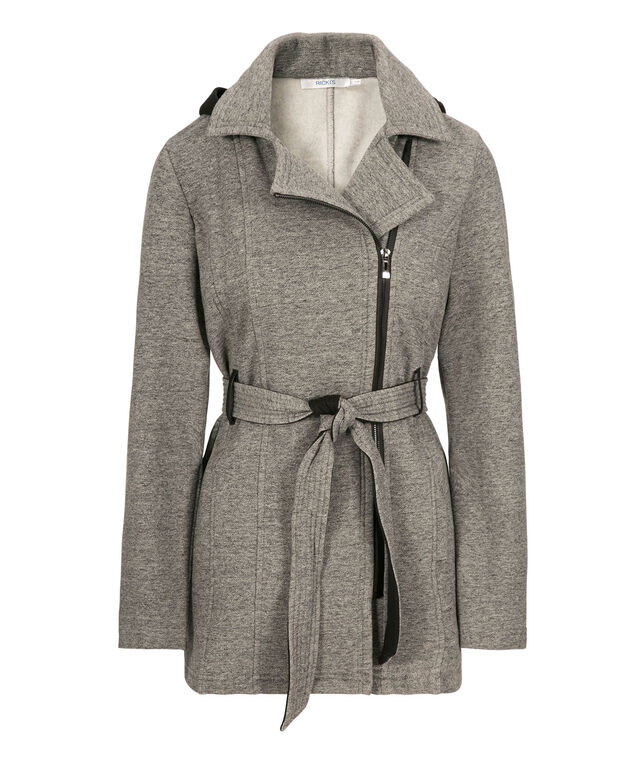 Hooded Fleece-Lined Jacket, Grey, hi-res