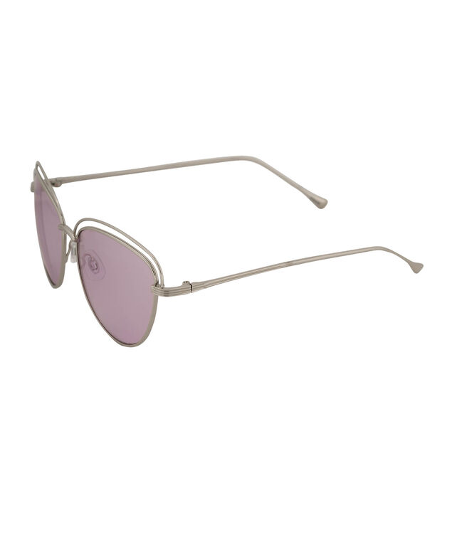 Double Frame Aviator Sunglasses, Purple/Silver, hi-res