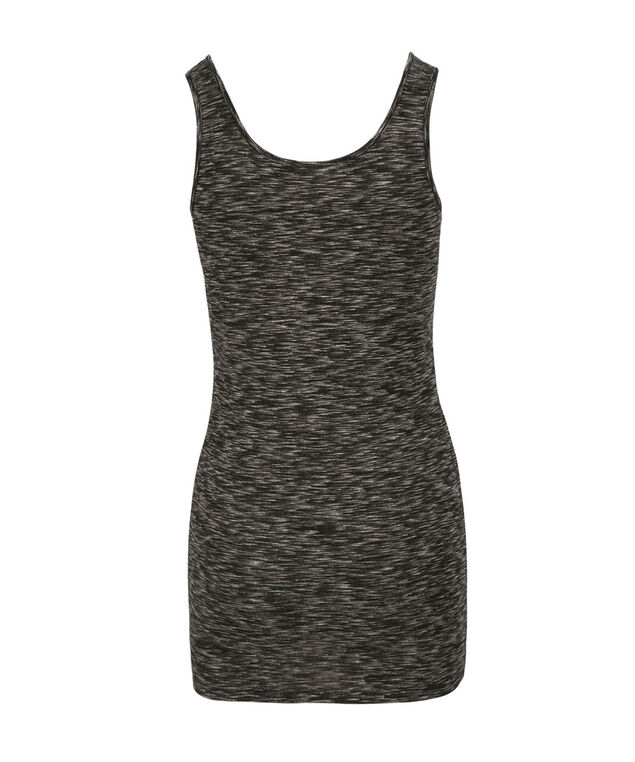 Space Dyed Tunic Length Cami, Black/White, hi-res