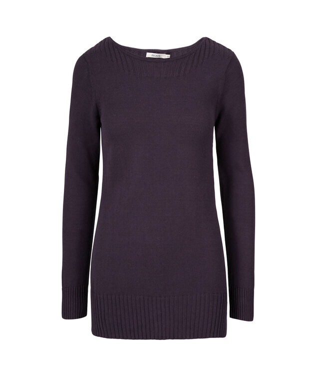Boat Neck Ribbed Pullover, Sugar Plum, hi-res