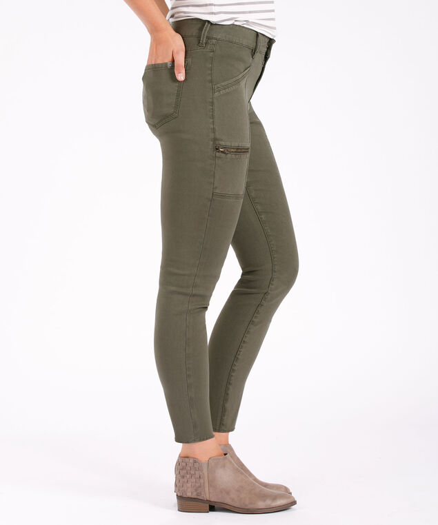 Silver Jeans Co. Aiko Slim Cargo, Olive, hi-res