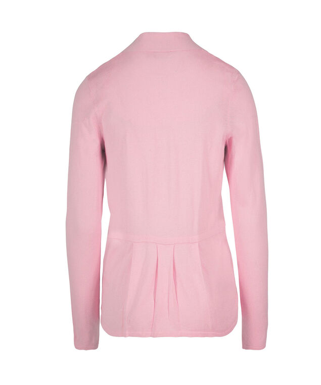 Pleated Back Open Cardigan, Soft Pink, hi-res