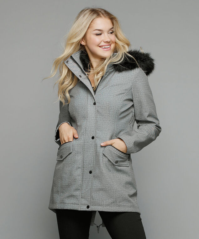 3-In-1 Soft Shell Jacket, Grey Pattern, hi-res