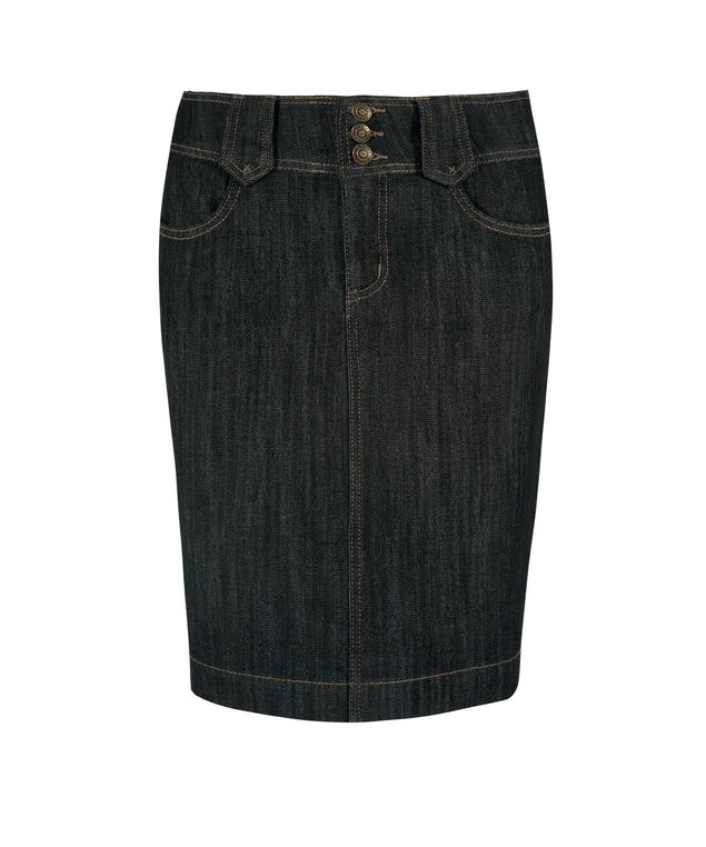 Dark Rinse Denim Skirt, Dark Rinse, hi-res