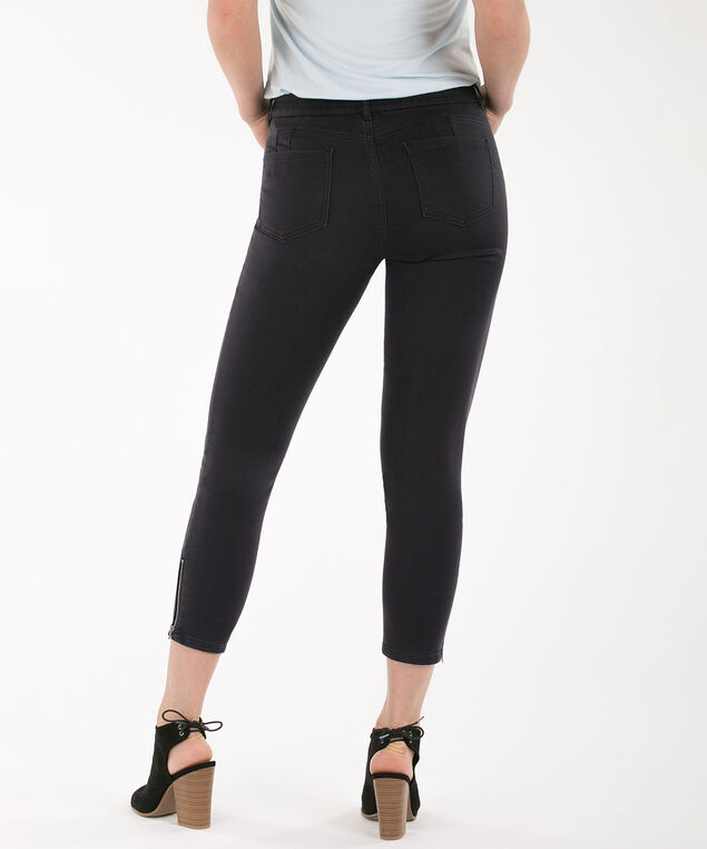 Fly-Front Ankle Zipper, Charcoal, hi-res