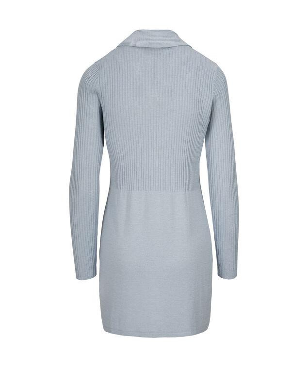 Ribbed Cardigan, Icy Blue, hi-res