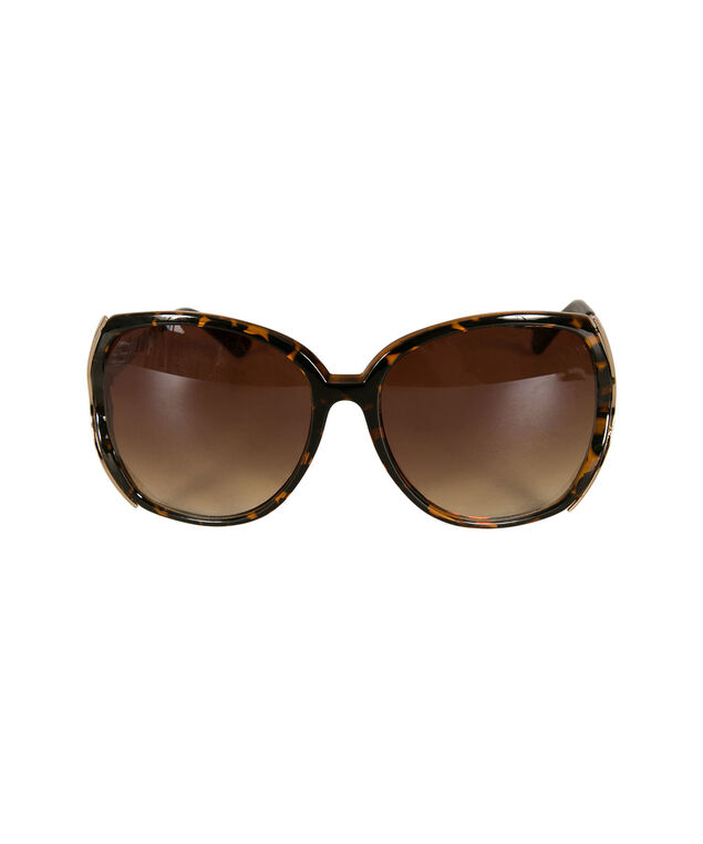 Oversized Square Sunglasses, Taupe/Gold, hi-res