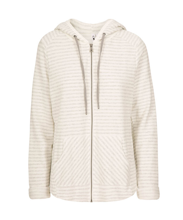 Striped Zip-Front Hoodie, GREY STRIPE, hi-res