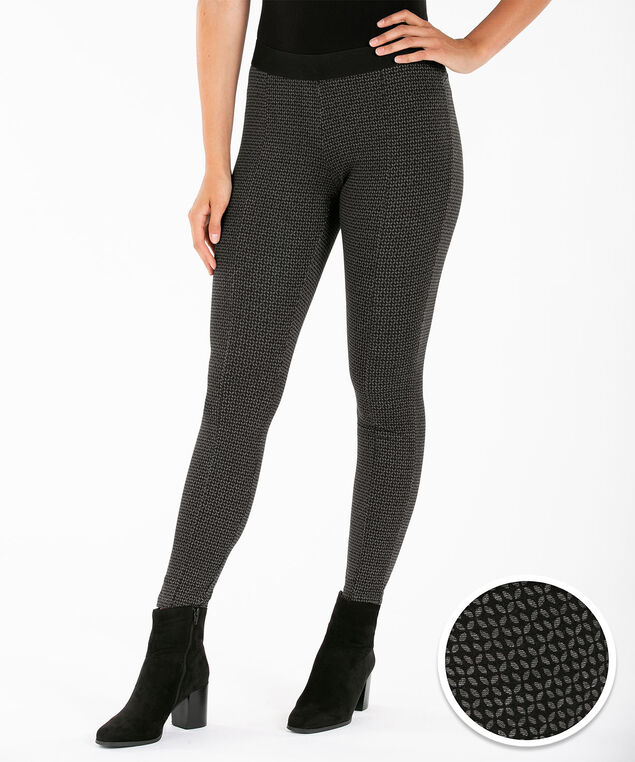 Luxe Ponte Legging, Charcoal/Black, hi-res
