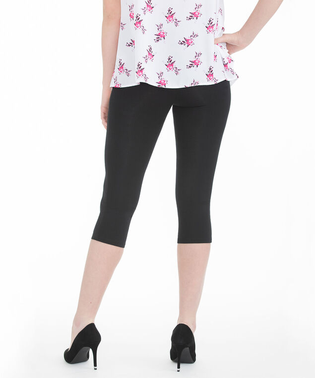 Knit Capri Legging, Black, hi-res
