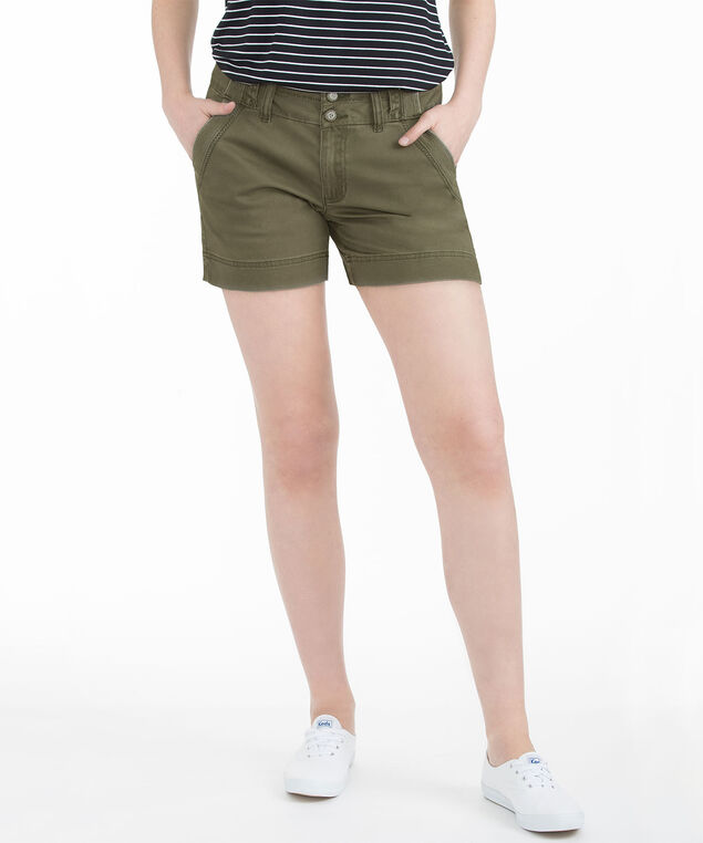 Olive Split Waistband Short, Olive, hi-res