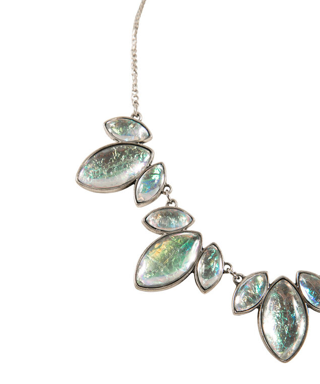 Faux Mother-of-Pearl Statement Necklace, Multi-coloured/Silver, hi-res