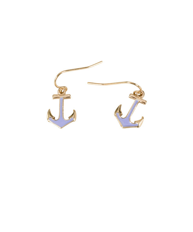 Anchor Earrings, Soft Blue/Soft Gold, hi-res