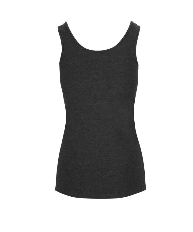 Scoop Neck Cami , Charcoal, hi-res