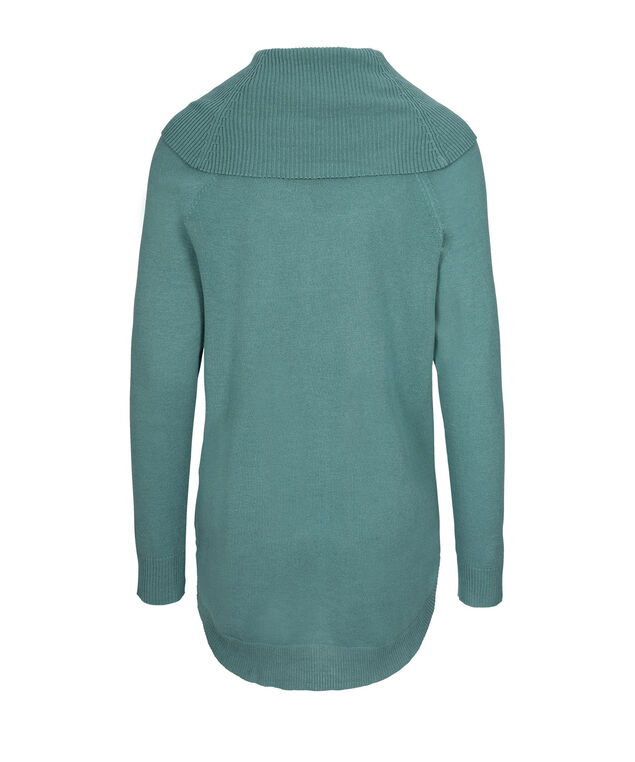 Cowl Tunic Sweater, Mid Teal, hi-res