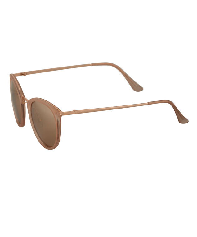 Rose Gold Mirrored Sunglasses, Pink/Rose Gold, hi-res