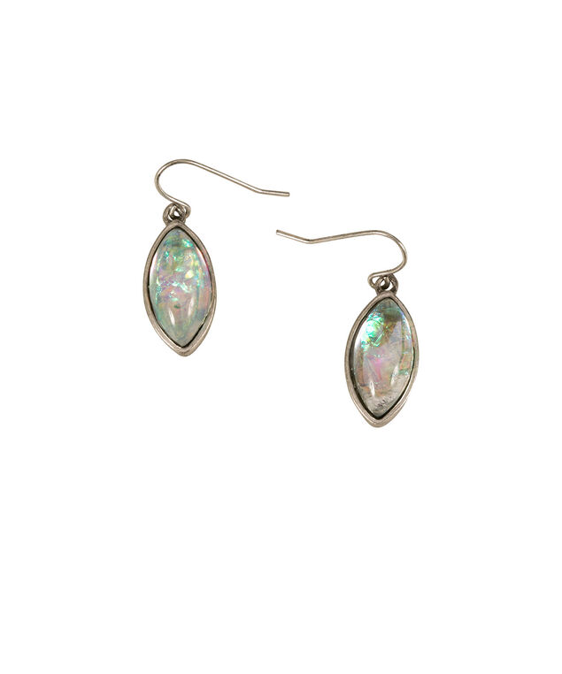 Faux Mother-of-Pearl Earrings, Multi-colour/Burnished Silver, hi-res