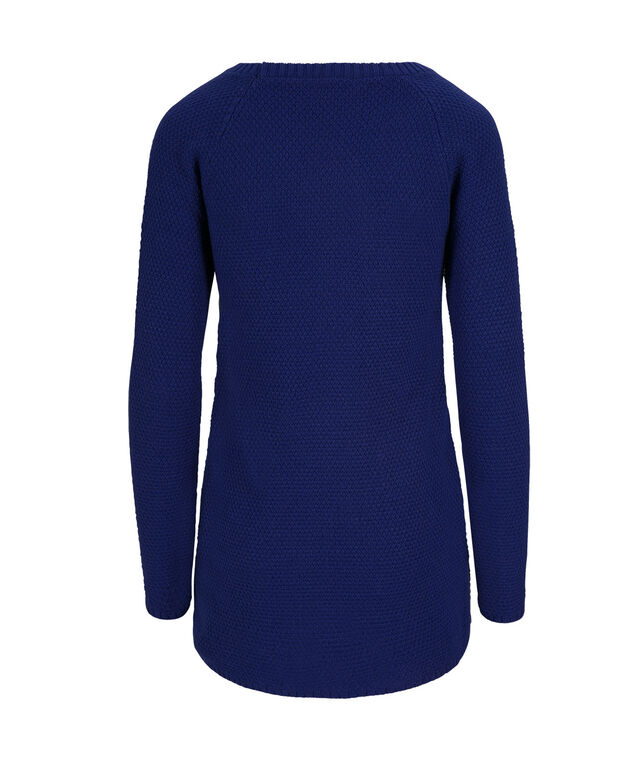 Cable Front Tunic Pullover, Cobalt, hi-res