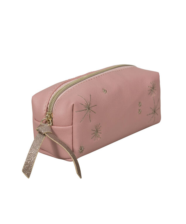 PINK STARS COSMETIC CASE, Pink, hi-res