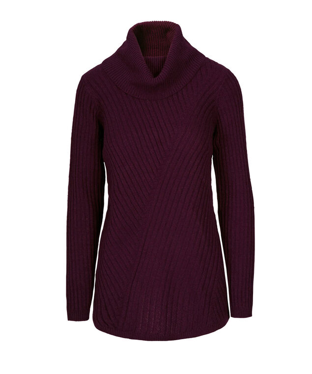 Mixed Stitch Plush Pullover, Wineberry, hi-res