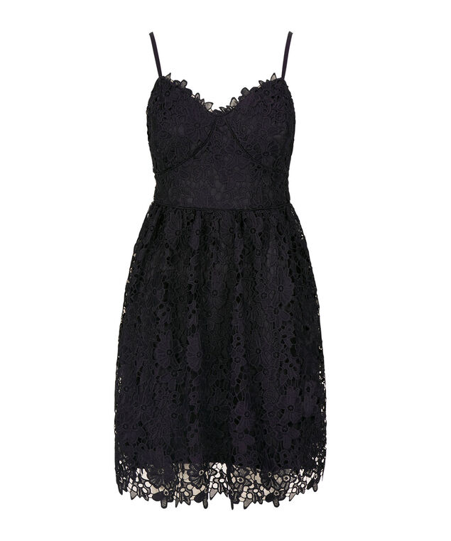 Strappy Crochet Lace Dress, Summer Navy, hi-res