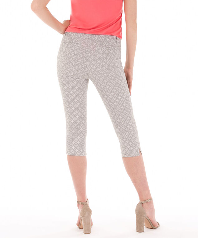 Microtwill Fly Front Capri, Grey Pattern, hi-res