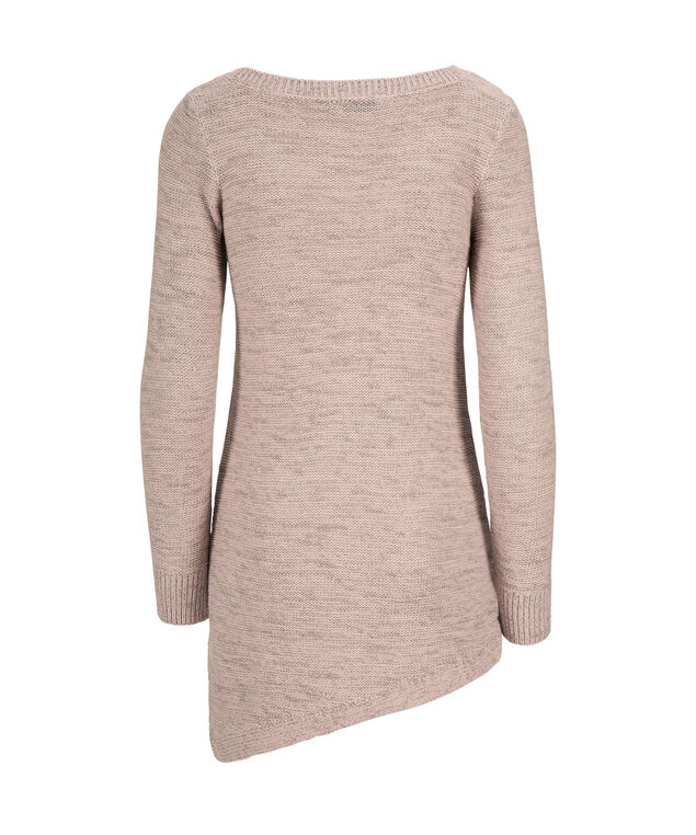 Mid Asymmetric Pullover, Dusty Pink/Grey, hi-res