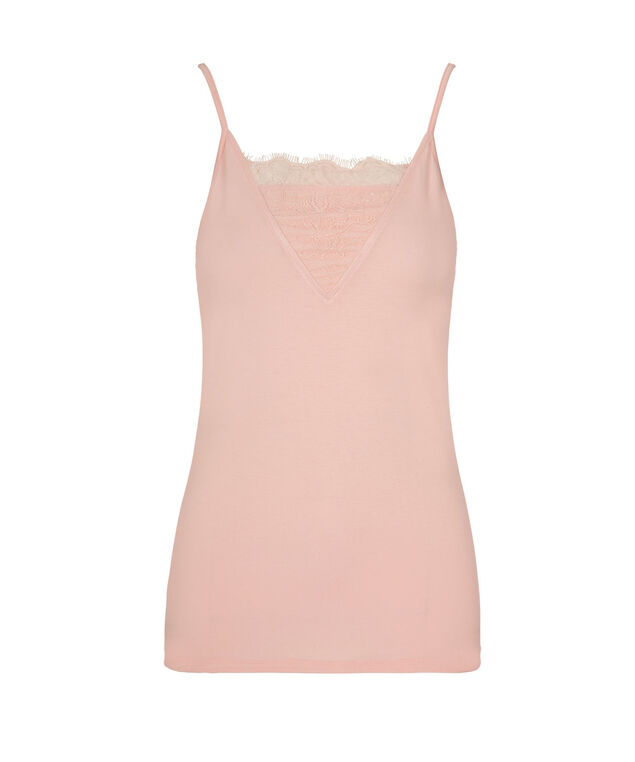 Strappy Lace Insert Cami, Misty Pink, hi-res