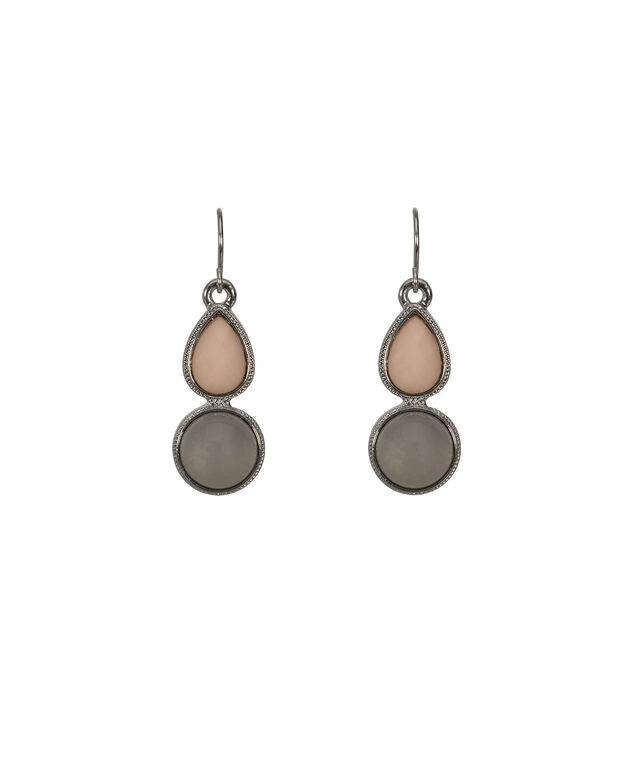 Faceted Stone & Opal Teardrop Earring, Neutral/Rhodium, hi-res