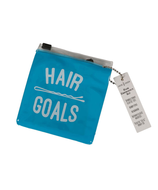 Messy Hair Emergency Kit, Blue/White, hi-res