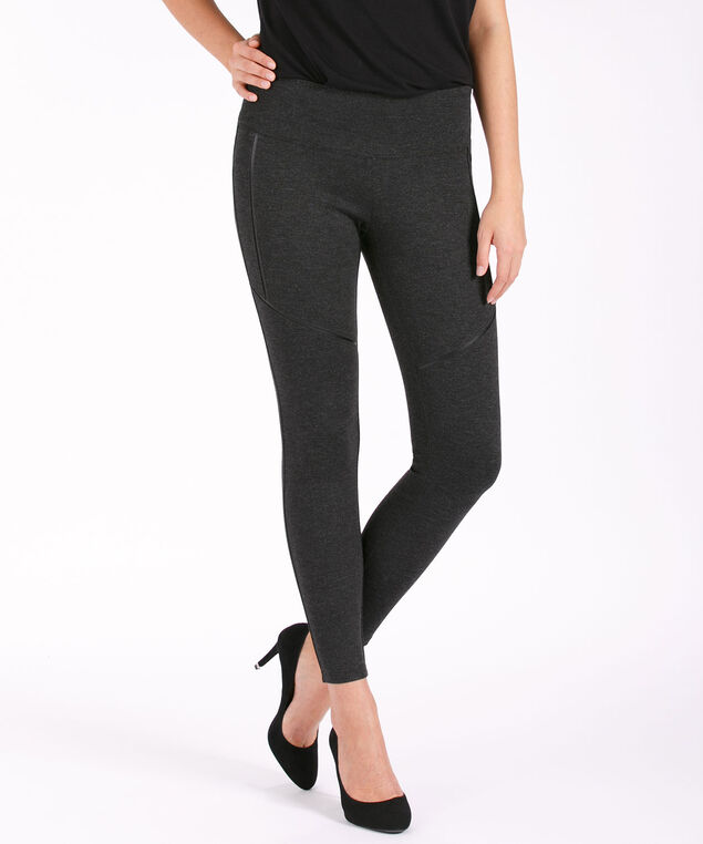 Instant Smooth Ponte Leggings, Charcoal, hi-res