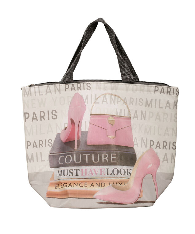Couture Lunch Tote, Pink/Grey, hi-res