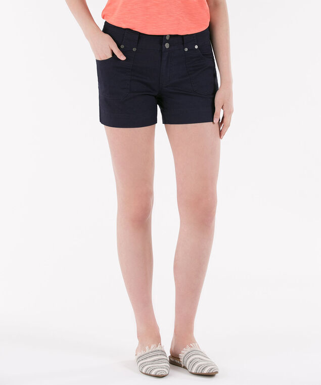 Twill Flap Pocket Short, Summer Navy, hi-res