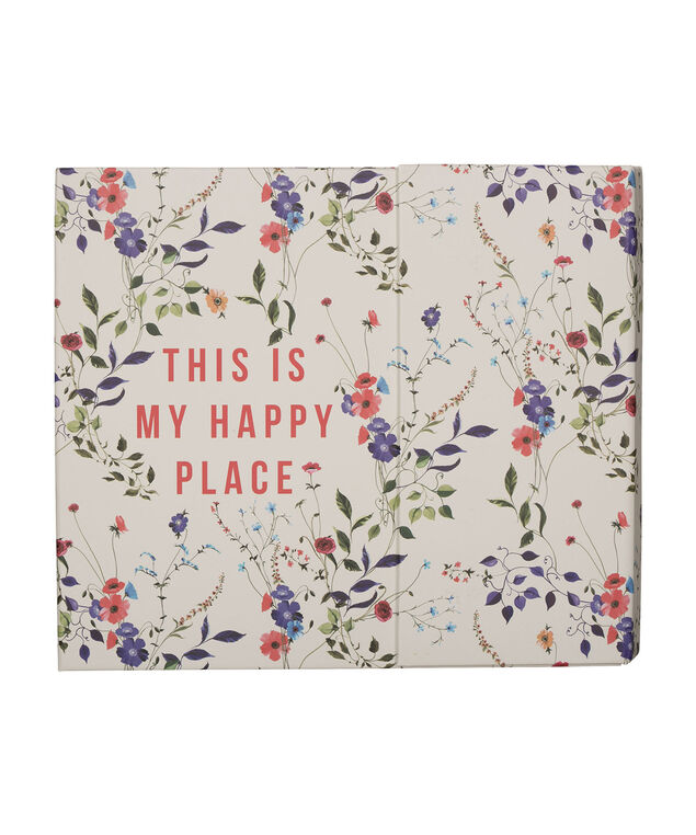"""This Is My Happy Place"" Weekly Travel Organizer, Red/Milkshake/Blue, hi-res"