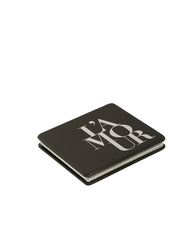 L'Amour Compact Mirror, White/Black, hi-res