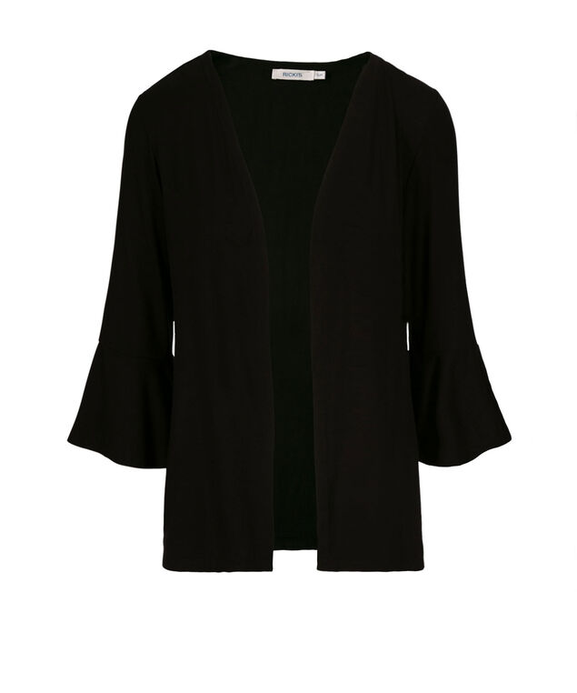 Bell Sleeve Cardigan, Black, hi-res