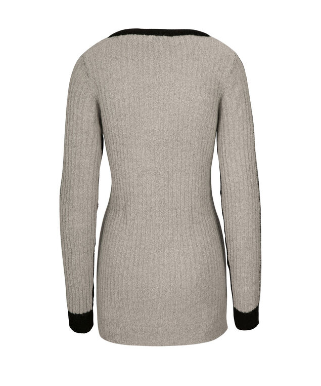 Colour Block Pullover, Black/Grey, hi-res