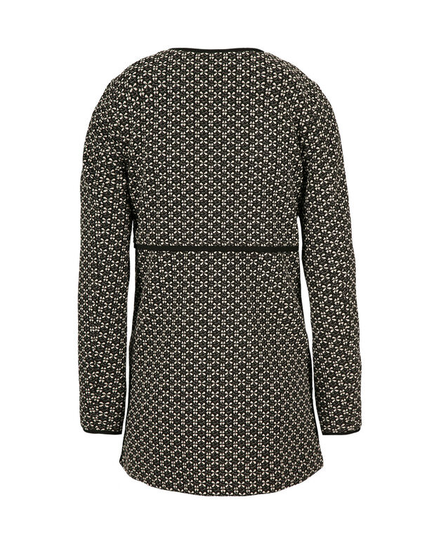 Pattern Car Coat, Black Pattern, hi-res