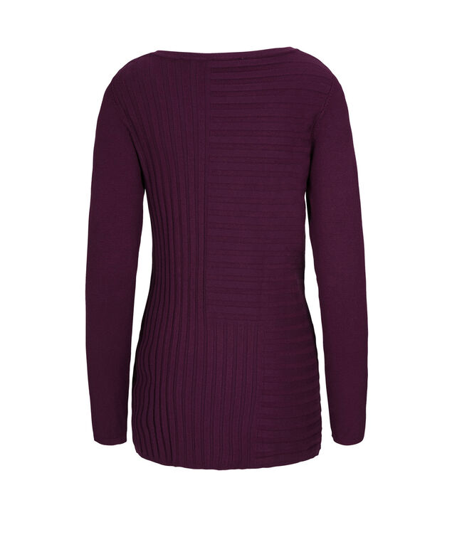 Mid Length Ribbed Pullover, Ultra Purple, hi-res
