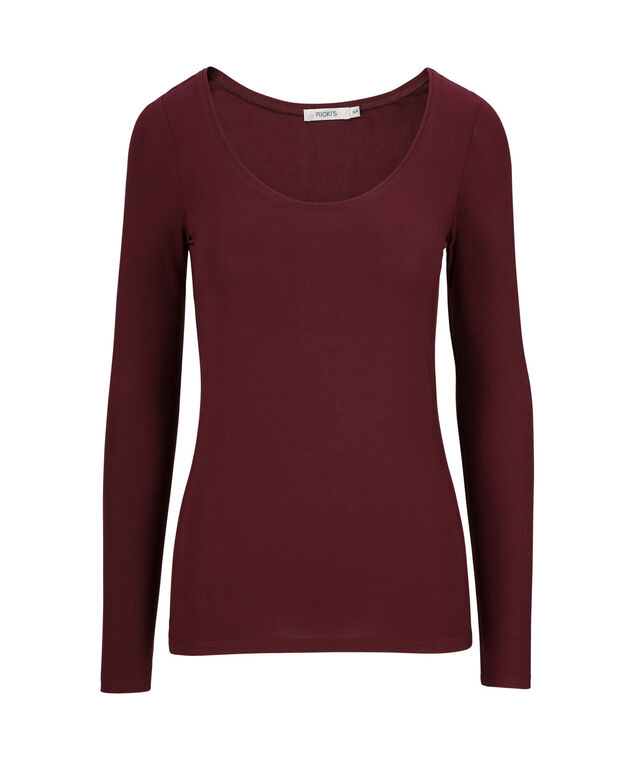 Super Soft Essential Tee, Burgundy, hi-res