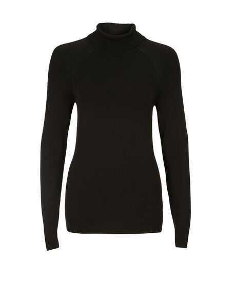 Classic Turtleneck Pullover, Black, hi-res
