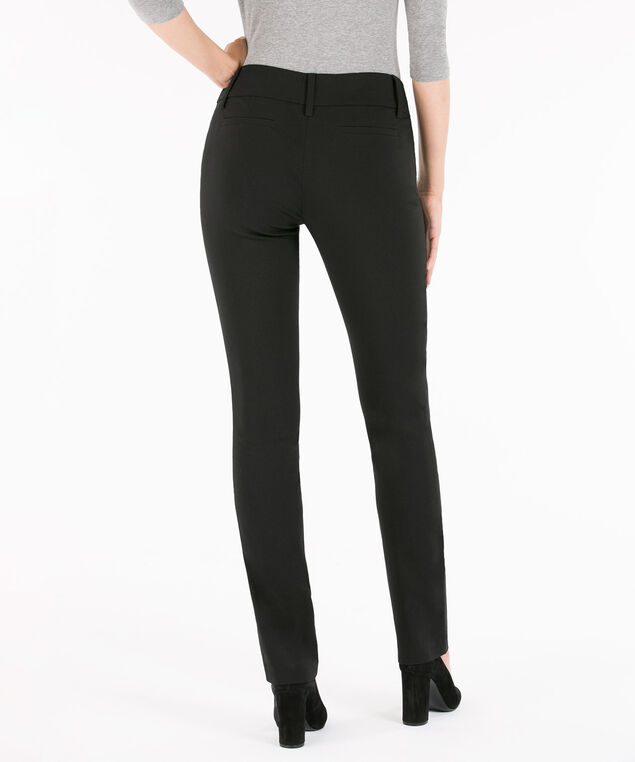 Microtwill Straight Leg, Black, hi-res