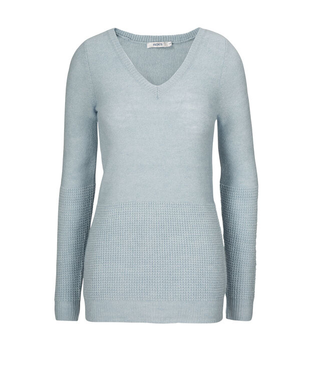 Mixed Stitch Pullover, Icy Blue, hi-res