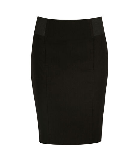 Microtwill Elastic Detail Pencil Skirt by Ricki's