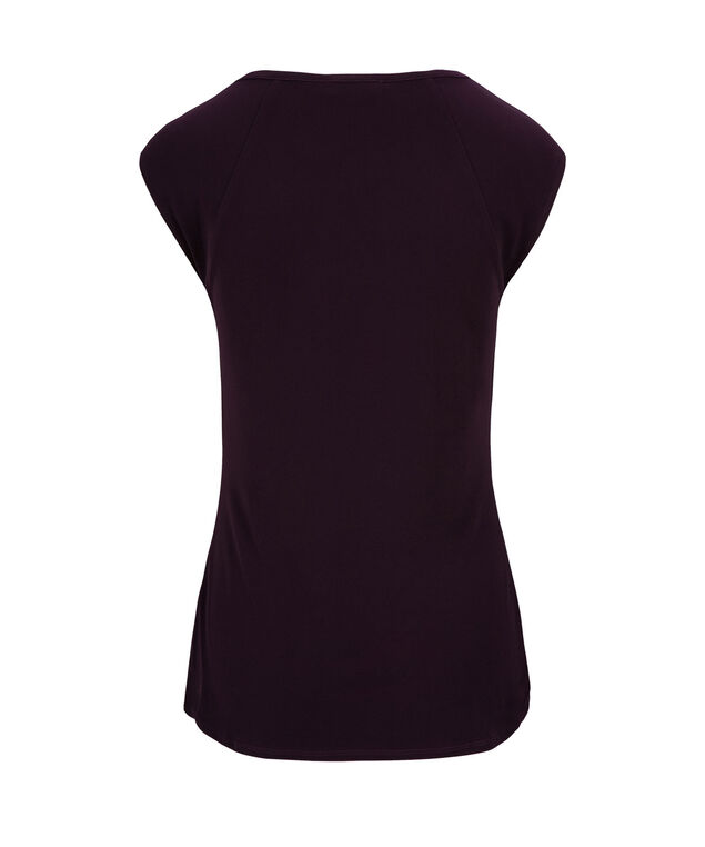 Criss Cross Extended Sleeve, Dark Purple, hi-res