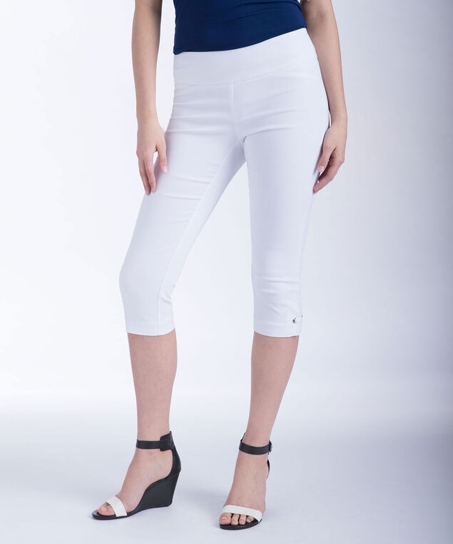 Microtwill Side Tab Capri , True White, hi-res