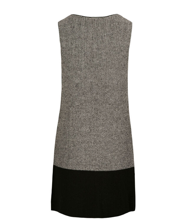 Colour Block Sweater Vest, Black/White Mix, hi-res