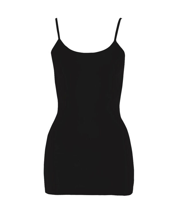 Seamless Strappy Cami, Black, hi-res