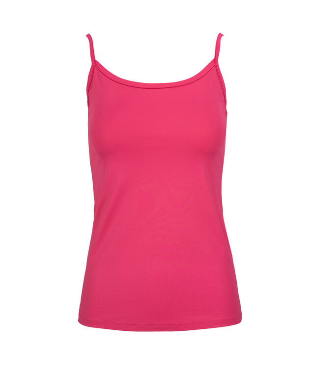 Wide Trim Strappy Cami, Hot Pink, hi-res